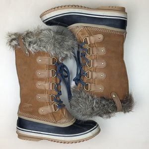 SOREL Joan of Arctic Tall Leather Snow Boots Elk